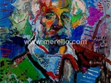 spanische-kunst-kunstler-maler-malerei.merello.einstein-73x54-cm-mix-media-on-table-