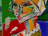 spanische-kunst-kunstler-maler-malerei.merello.retrato-de-mujer-con-turbante-amarillo-73x54-cm-mix-media-on-table-
